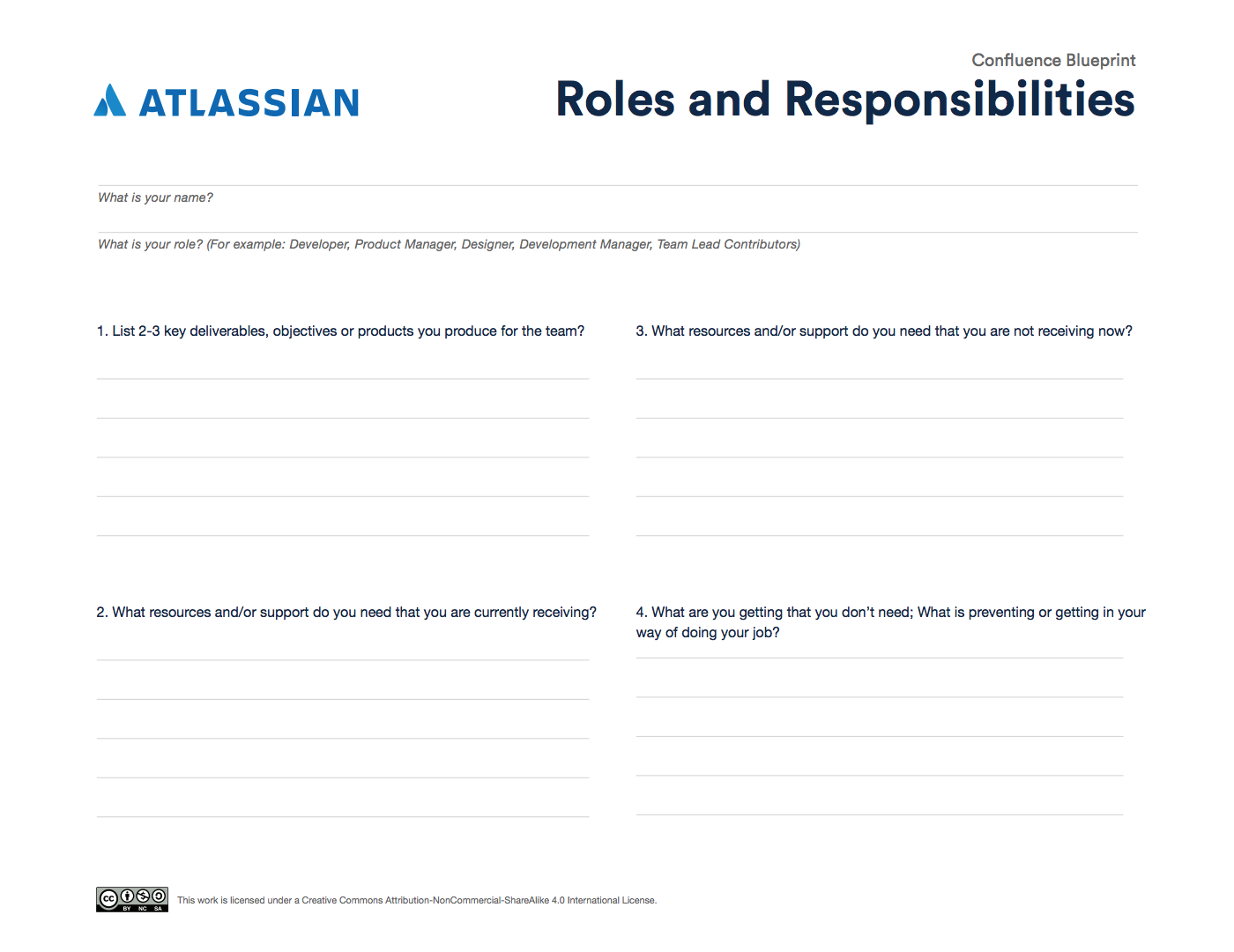 The Roles and Responsibilities tool to better understand team members contributions.