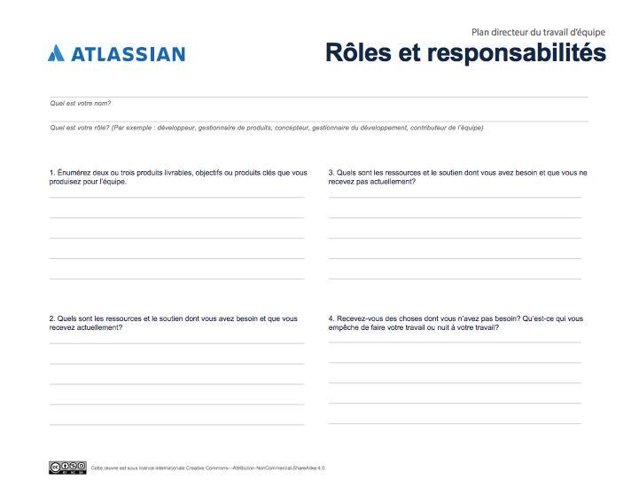 L'outil des Rôles et responsabilités pour mieux comprendre les contributions de tous les membres de l'équipe.
