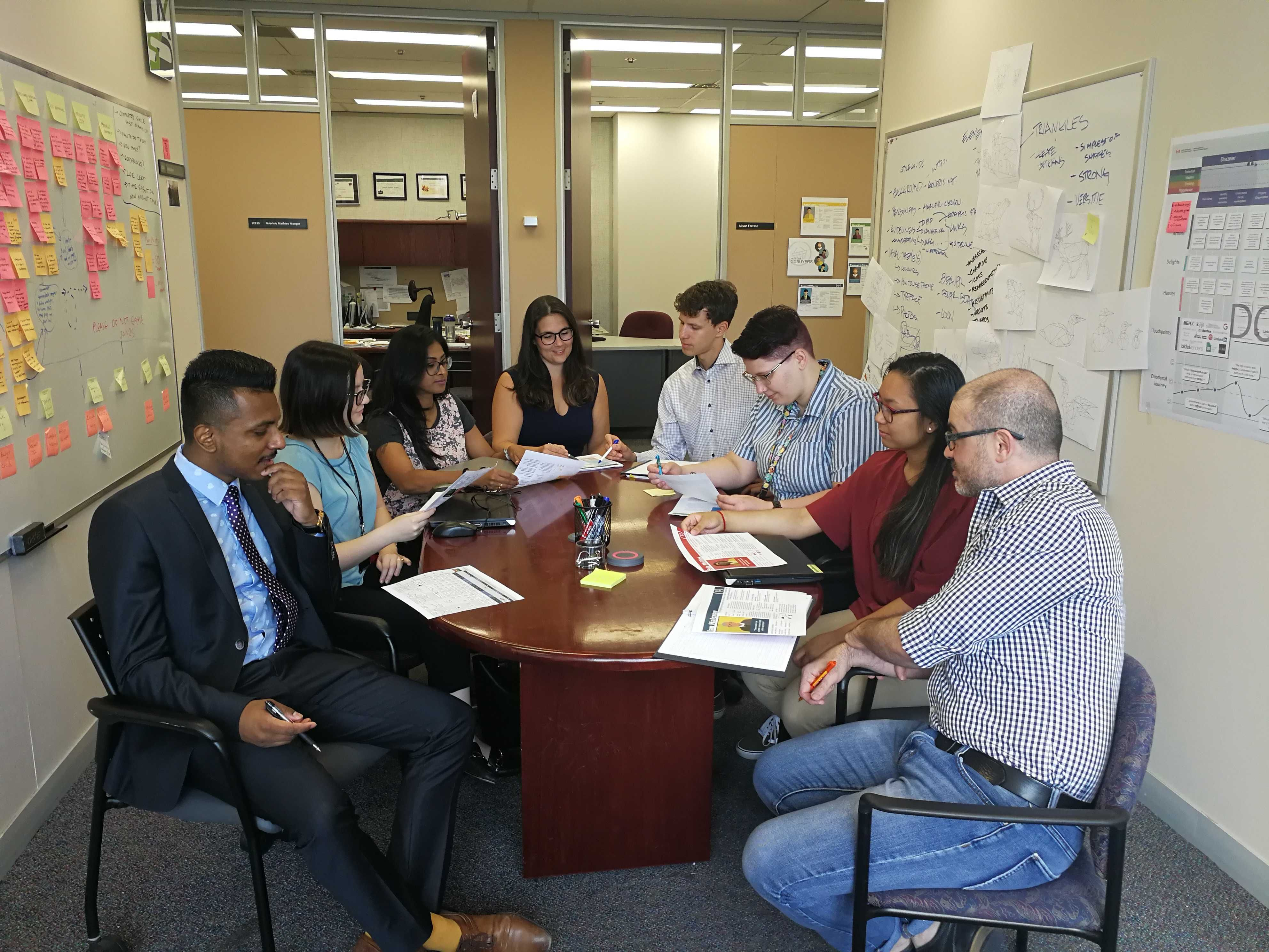 A photo of PSPC's Design Research team.